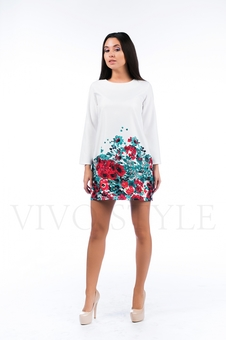Платье мини с рукавом 26121-1
