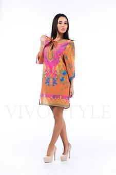 Платье с разрезами по бокам 26123-1