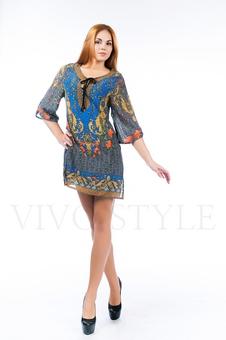 Платье с разрезами по бокам 26123-2