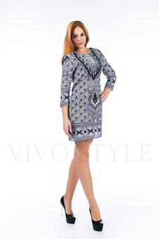 Платье с орнаментом 26125-1
