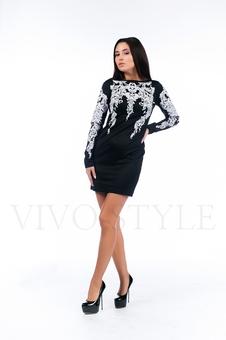 Платье из плотного трикотажа 26126-1