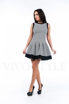 Женское платье со складками 26130-1