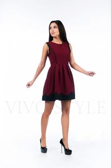 Трикотажное платье с отрезной талией 26131-1