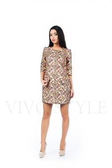 Платье с вертикальными рельефами 26137-2