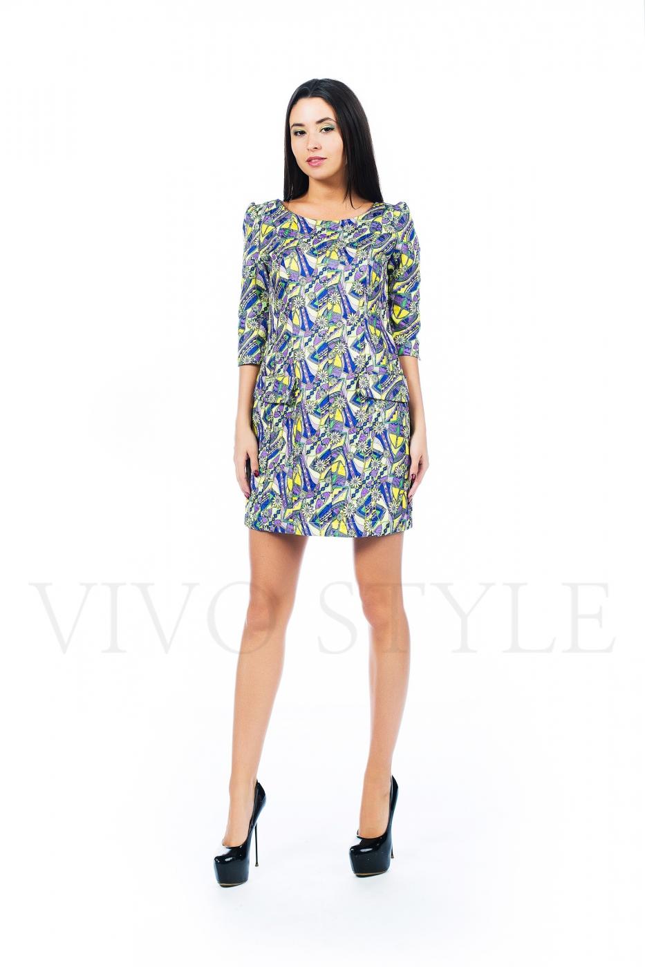 Платье с вертикальными рельефами