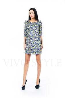 Платье с вертикальными рельефами 26137-1