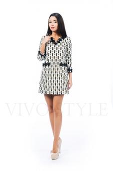 Платье с настрачным кружевом 26138-1