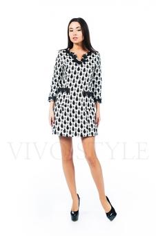 Платье с настрачным кружевом 26138-2
