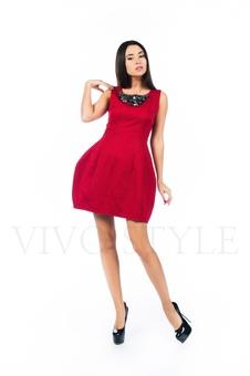 Платье с набивным рисунком 26140-1