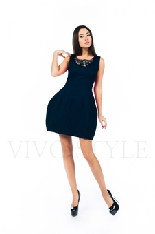 Платье с набивным рисунком 26140-2