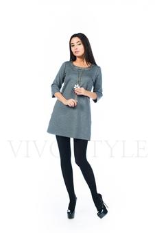 Удобное платье с рукавом 26145-3