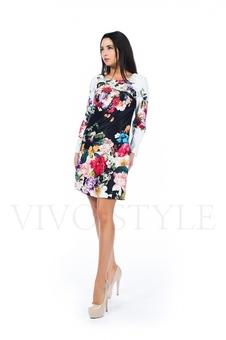 Короткое закрытое платье 26146-1