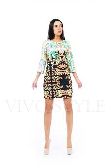 Платье из фактурной ткани 26148-1