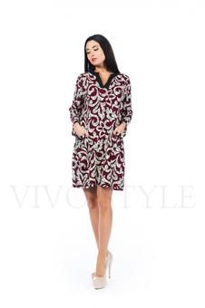 Платье с V-образным вырезом 26152-1