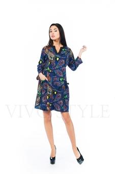 Платье с V-образным вырезом 26152-2
