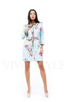 Платье с рукавом три четверти 26156-1
