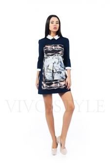 Практичное консервативное платье 26159-1
