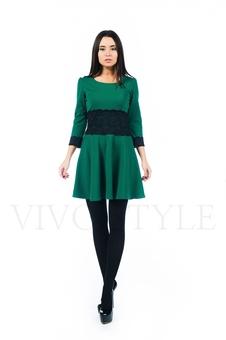 Коктейльное платье с кружевом 26161-1