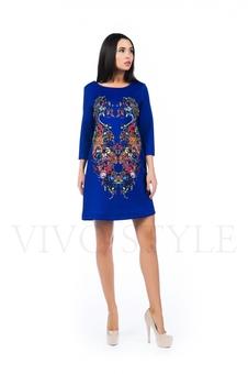Женственное платье с рисунком 26162-1