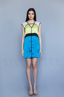 Платье контрастное
