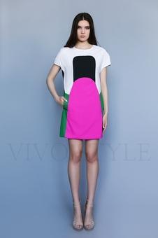 Короткое женское платье с карманами 26171-1