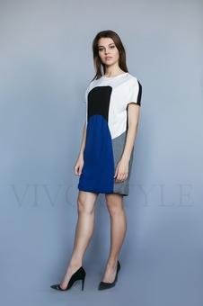 Короткое женское платье с карманами 26171-2