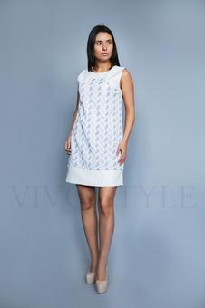 Летнее платье без рукавов 26182-1