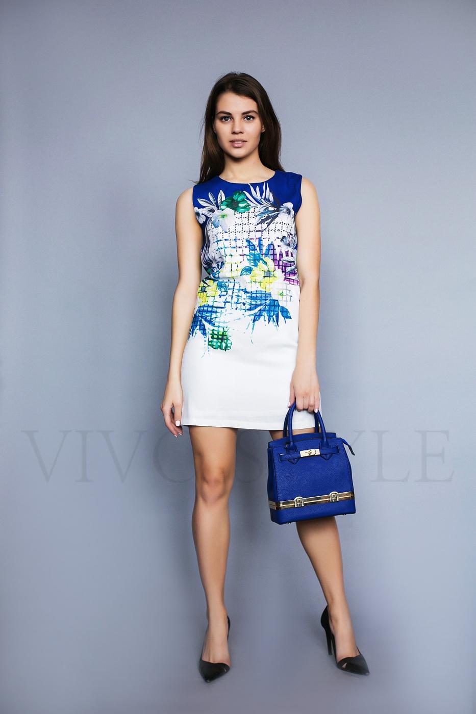 Платье мини с ярким рисунком