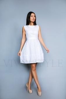 Женственное однотонное платье 26192-1