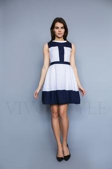 Женственное однотонное платье 26192-2