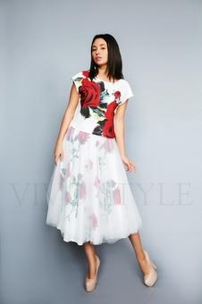 Женский костюм с цветочным принтом 26193-1