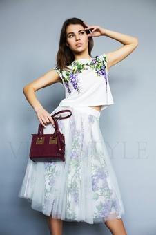 Женский костюм с цветочным принтом 26193-2
