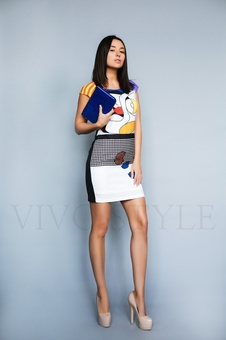 Платье полуприлегающего силуэта 26196-1
