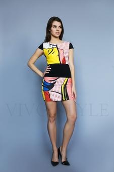 Женское полуприлегающее платье 26199-2