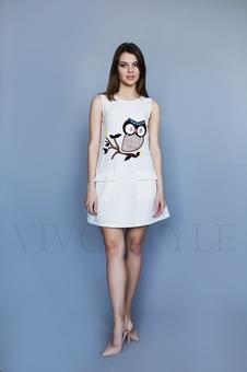 Женское короткое платье 26207-2