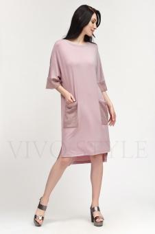 Платье c вставками из сетки 2S030-2