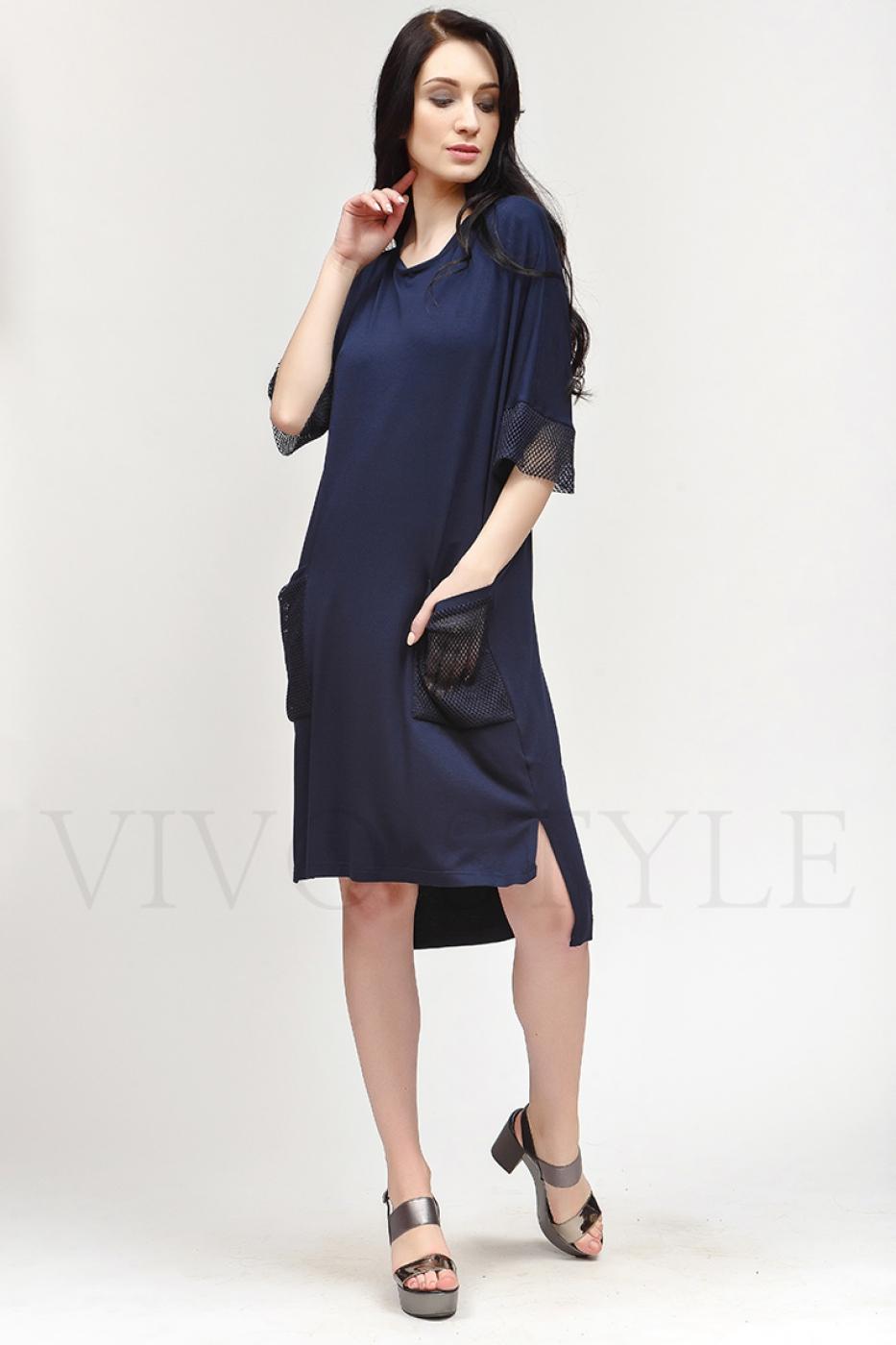 Платье c вставками из сетки