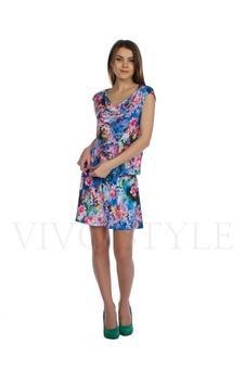 Платье с драпировкой 20103-1
