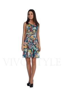 Платье с овальным вырезом 20113-1