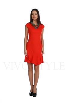 Платье с глубоким вырезом по спинке 20139-1