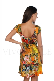 Платье с глубоким вырезом по спинке 20139-2