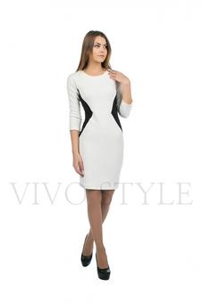 Платье с контрастными вставками 20148-3