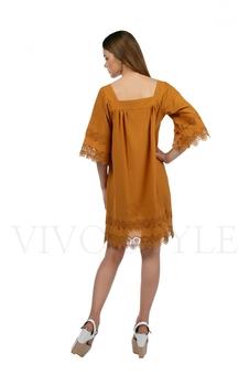 Платье с квадратным вырезом 20174-1