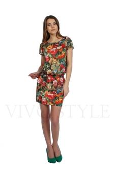 Платье прямого силуэта с притачным низом 20181-1