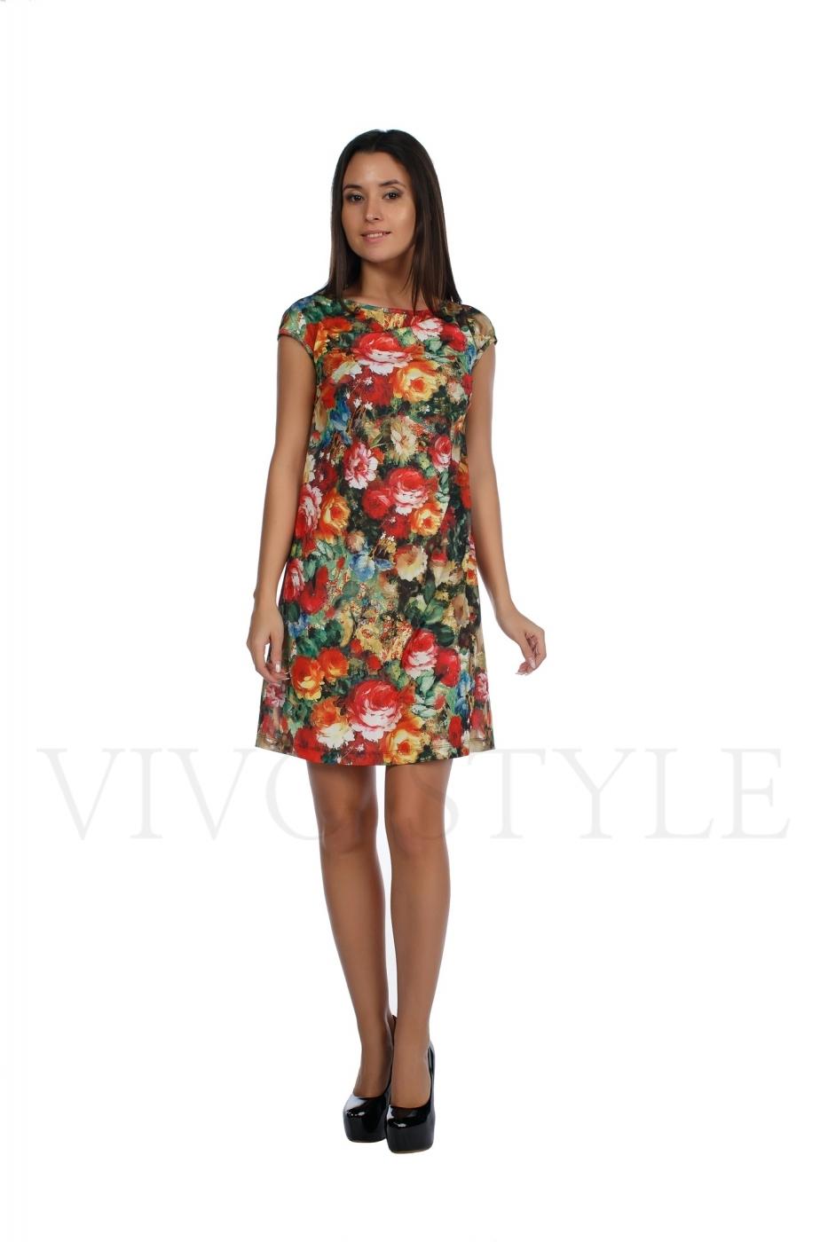 Романтичное платье прилегающего силуэта из трикотажного полотна высокого
