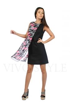 Платье с шифоновой вставкой 20206-1