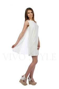 Платье с шифоновой вставкой 20206-2
