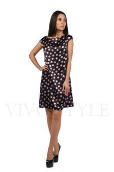 Платье со спущенным плечом 20208-1