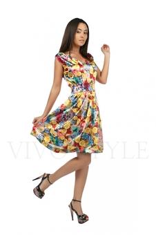 Яркое летнее платье 20216-3