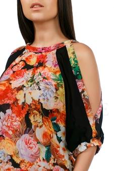 Платье с открытыми плечами 20217-1